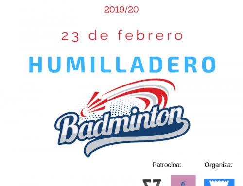Convocatoria 5ª Jornada Circuito Todobadminton 2019/20