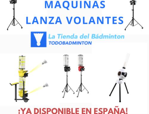 MÁQUINAS DE BÁDMINTON LANZA VOLANTES