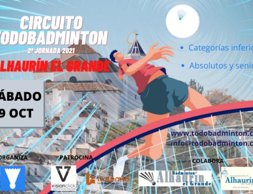 2º JORNADA CIRCUITO TODOBADMINTON 2021